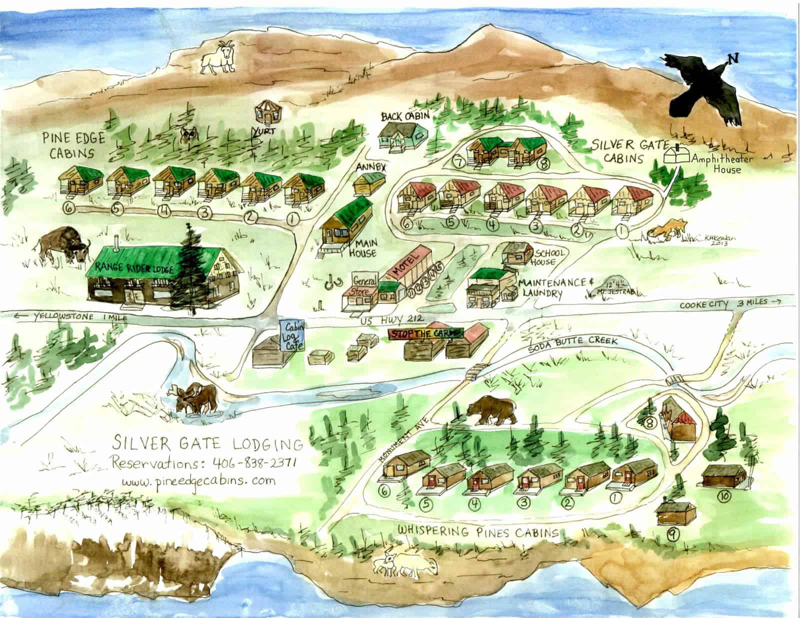 Silver Gate Town Map - Explore the outlay of the land and ...