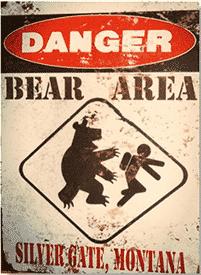 danger bear yellowstone park 1